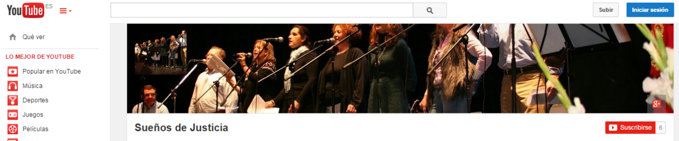 El grupo musical toboseño «Sueños de Justicia» estrena canal de vídeos en Youtube