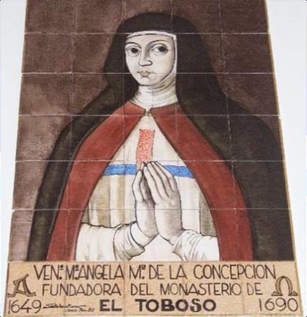 La Venerable Madre Sor Ángela María de la Concepción, reformadora de la orden de las trinitarias en El Toboso, «poseía un calco excepcional con Santa Teresa de Jesús»
