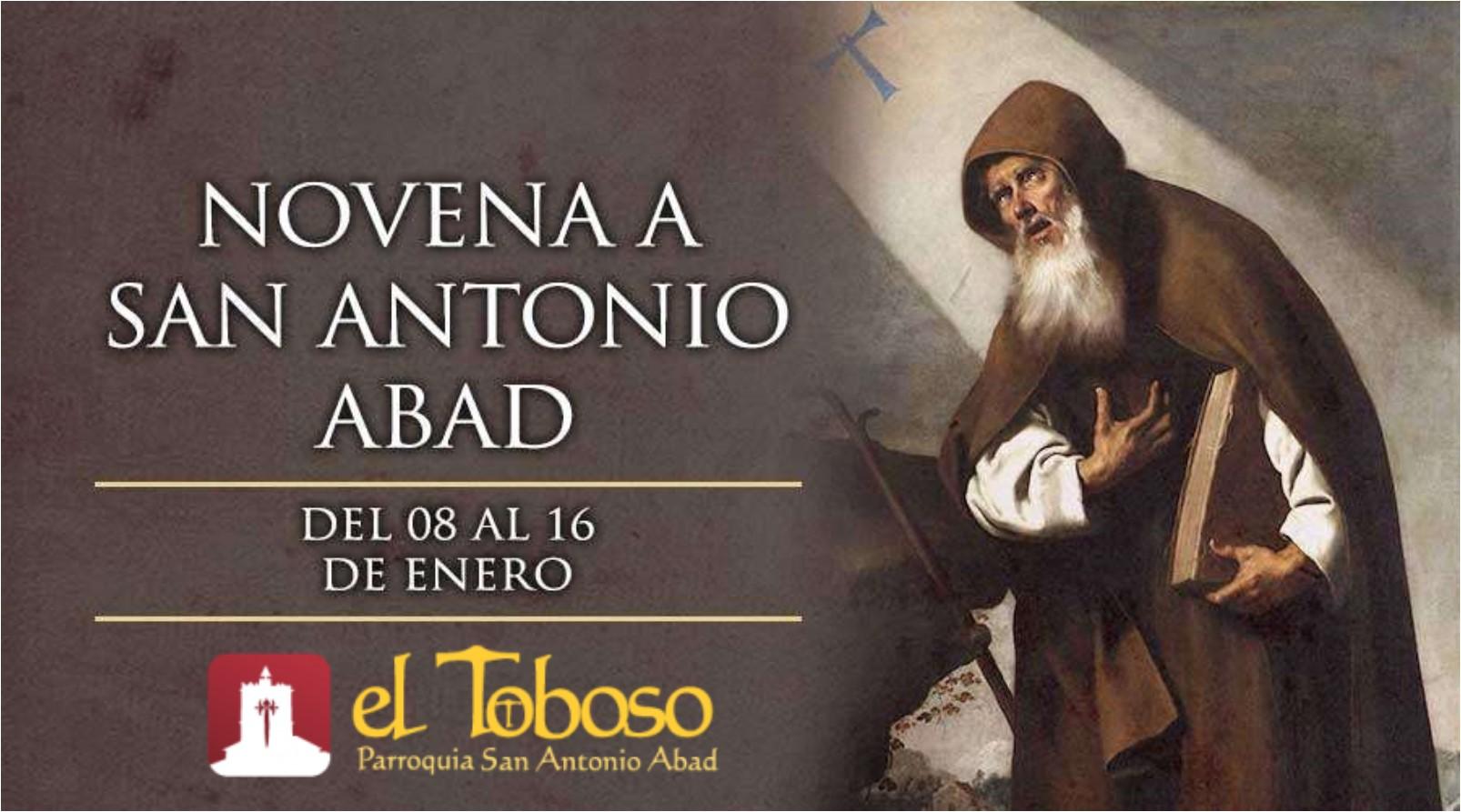 La Parroquia de El Toboso inicia hoy la novena a su Titular y Patrón, «San Antonio Abad»